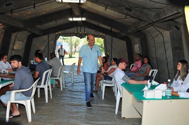 0848e65c7 Governador em exercício, Paco Brito visita tendas de atendimento  emergenciais contra a dengue montadas nas